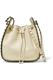 The Rockstud leather bucket bag
