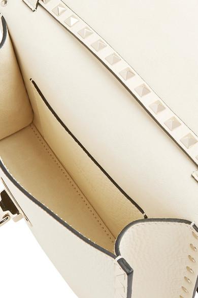 Valentino Rockstud Schultertasche aus strukturiertem Leder Bester Ort Genießen Sie Online  Um Online Kaufen 1bRu5qk