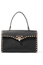 Valentino Garavani The Rockstud textured-leather tote