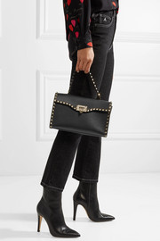 The Rockstud textured-leather tote