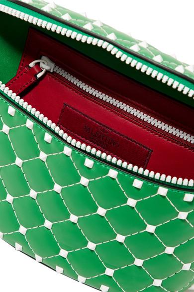 Valentino Rockstud Gürteltasche aus gestepptem Leder