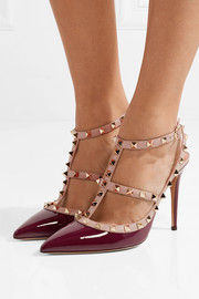 The Rockstud patent-leather pumps