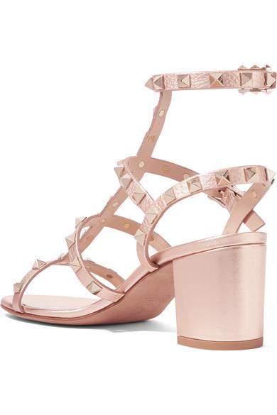 Valentino Garavani The Rockstud Metallic Leather Sandals - IT36.5 Valentino For Cheap Price Fake Cheap Newest A4YRmMEpn