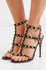The Rockstud leather sandals
