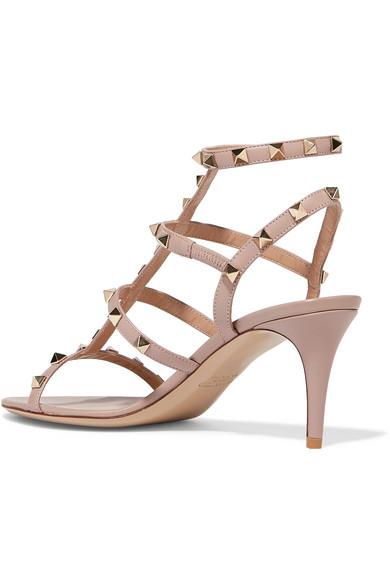 Valentino Rockstud Sandalen aus Leder