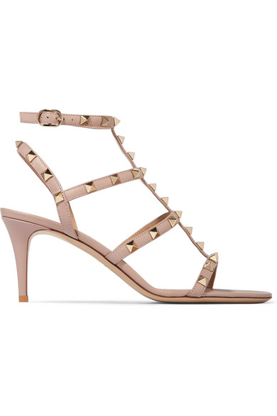 5f38b879e5 Valentino | Valentino Garavani The Rockstud leather sandals | NET-A ...