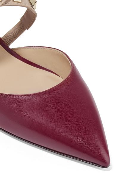 Valentino Rockstud Mules aus Leder Original-Verkauf Online Verkauf Ausgezeichnet 6Hoqle