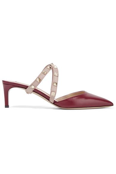 e9669a1718b4 Valentino. Valentino Garavani The Rockstud leather mules