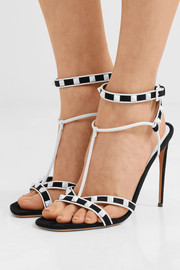 The Rockstud suede and leather sandals