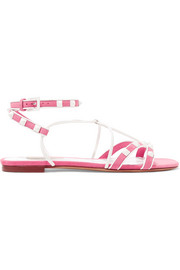 Valentino The Rockstud leather and suede sandals