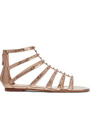 Valentino Lovestud metallic leather sandals