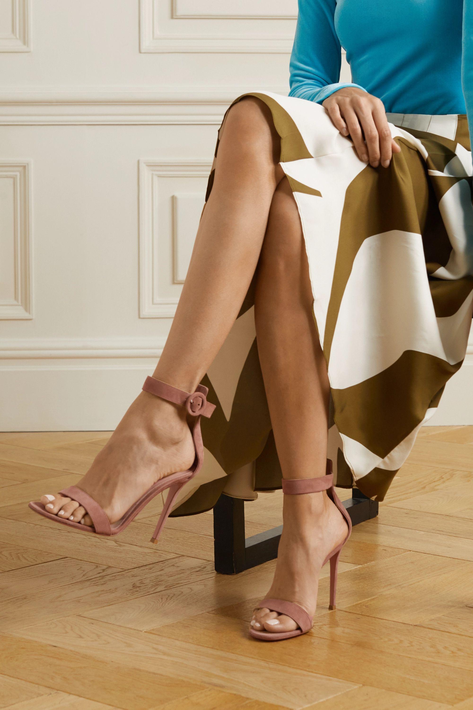 Gianvito Rossi Portofino 105 suede sandals