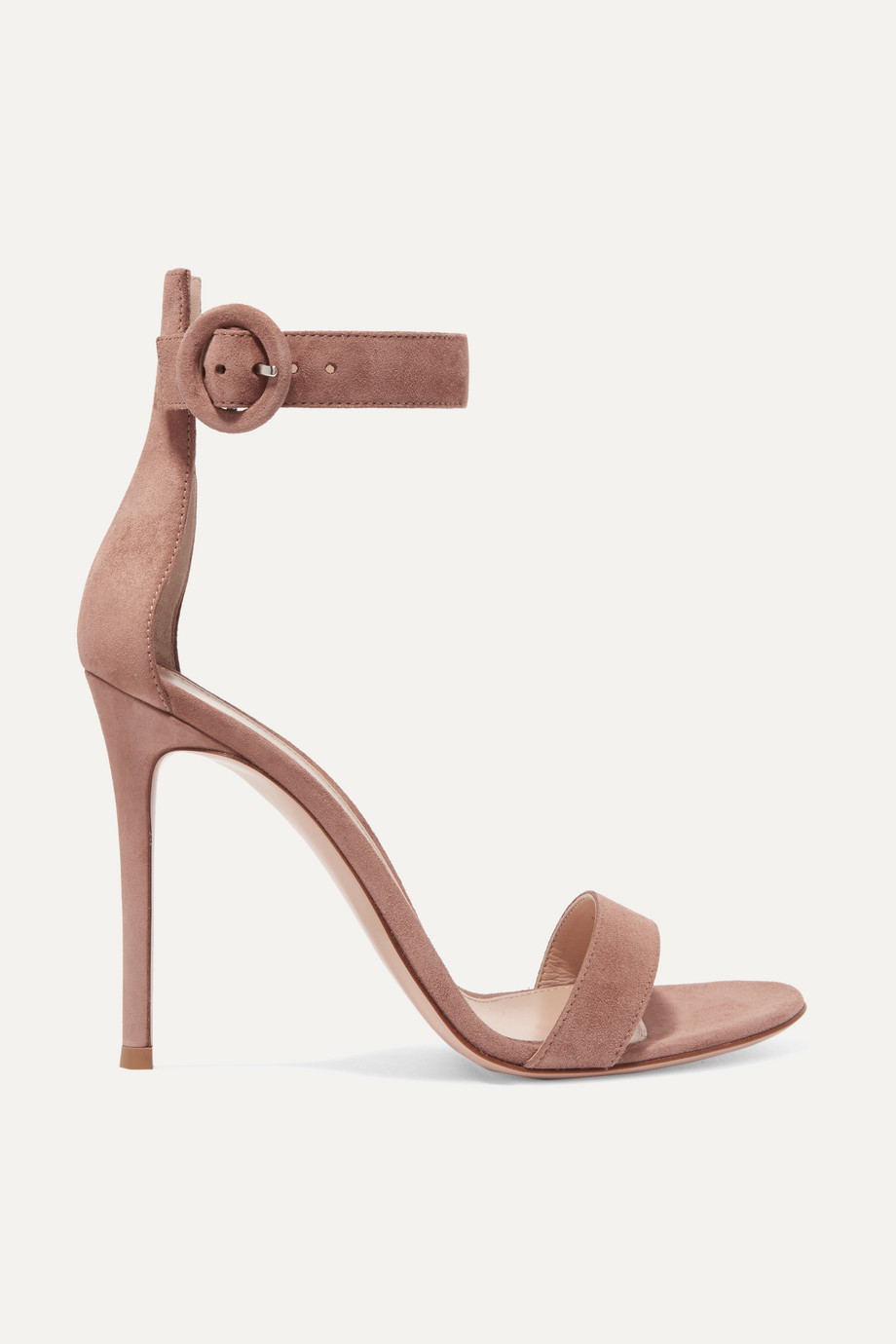 Gianvito Rossi Portofino 105 绒面革凉鞋