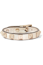 Valentino Rockstud metallic leather bracelet