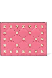 The Rockstud Spike quilted leather cardholder