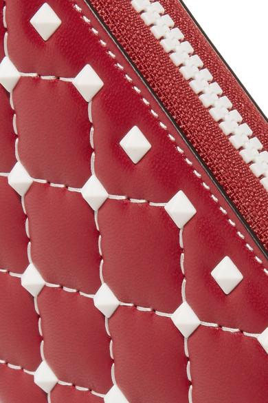 Valentino Rockstud Spike Portemonnaie aus gestepptem Leder Zum Verkauf Finish Kaufen Günstigen Preis Bekommen Iy866ugZ