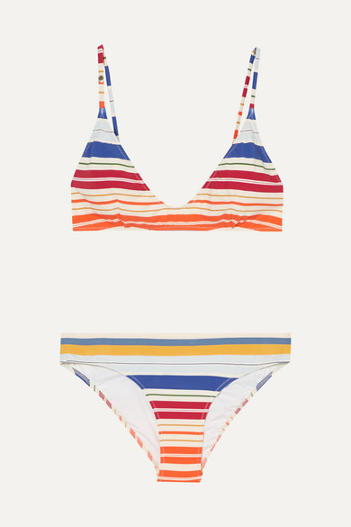 Stella McCartney Gestreifter Triangel-Bikini