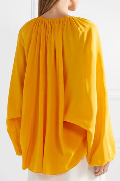 7601f51559a1f4 Elizabeth and James. Chance silk-satin blouse. £193. Play