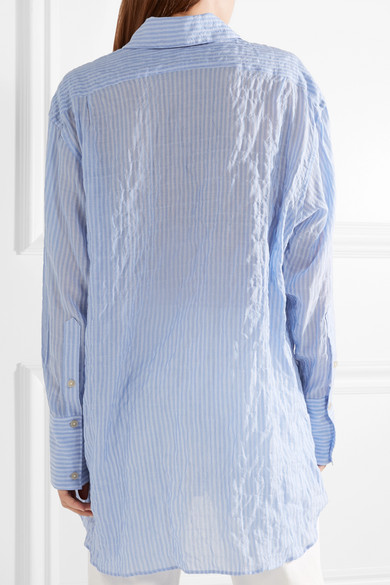 Elizabeth and James Francois gestreiftes Hemd aus Voile