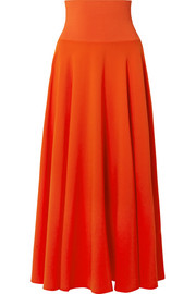 Elizabeth and James Frances crepe de chine maxi skirt