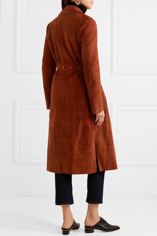 Elizabeth and James Jules belted suede coat