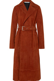 Elizabeth and James Jules belted suede coat