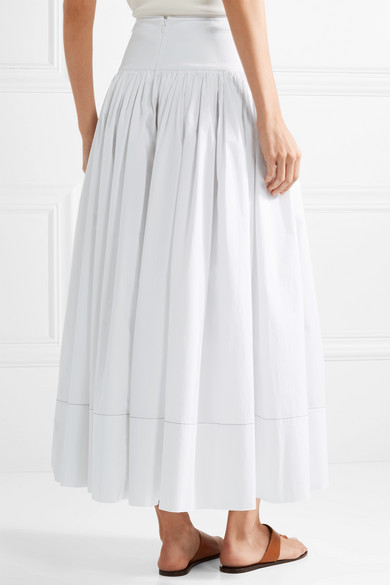 Geniue Stockist For Sale Amazon Shirley Cotton-blend Poplin Maxi Skirt - White Elizabeth & James Free Shipping Footlocker Pictures Footaction Cheap Price Big Discount For Sale FEvGPfu8