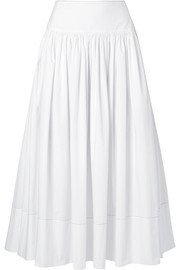 Elizabeth and James Shirley cotton-blend poplin maxi skirt