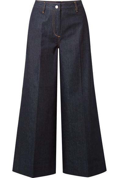 Elizabeth and James Ace verkürzte, hoch sitzende Jeans mit weitem Bein