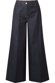 Elizabeth and James Ace cropped high-rise wide-leg jeans