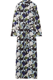 Britten floral-print silk crepe de chine maxi dress