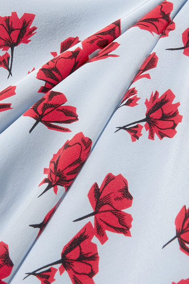 Equipment Jada Midikleid aus vorgewaschener Seide mit Blumenprint