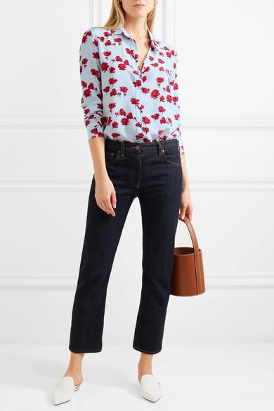 Equipment Leema Hemd aus vorgewaschener Seide mit floralem Print