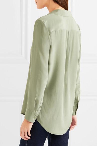 Equipment Essential Hemd aus vorgewaschener Seide Zum Verkauf Online-Verkauf Billiger Großhandel Neu Hochwertige Billig Freies Verschiffen Auslass jBxdpiC
