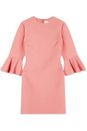 Valentino Donna ruffled wool and silk-blend mini dress