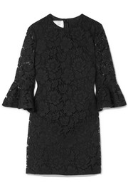 Valentino Donna ruffled corded lace mini dress