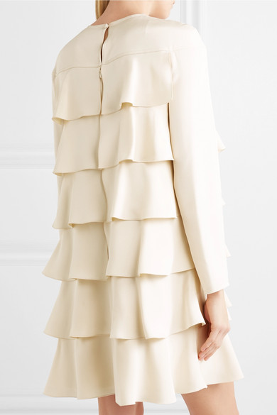Valentino Gestuftes Minikleid aus Crêpe de Chine aus Seide