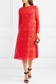 Valentino Blossom macramé lace midi dress