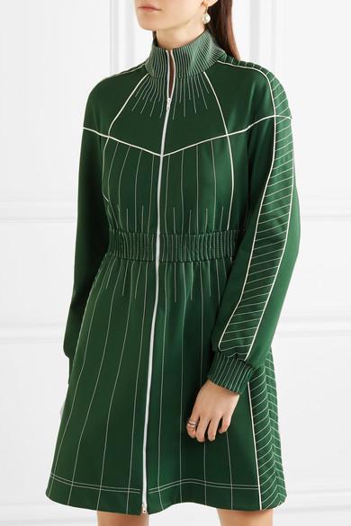Valentino Besticktes Minikleid aus glänzendem Jersey