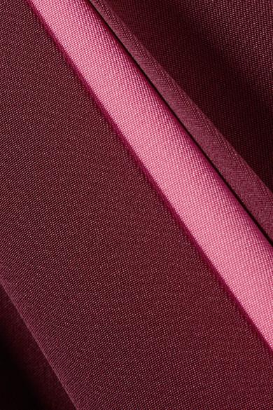 Valentino Zweifarbige Robe aus Seidensatin mit Falten