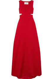 Valentino Cutout wool and silk-blend gown