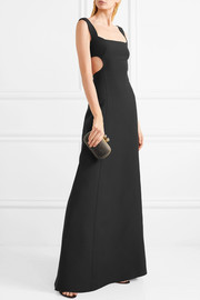 Valentino Cutout wool and silk-blend crepe gown