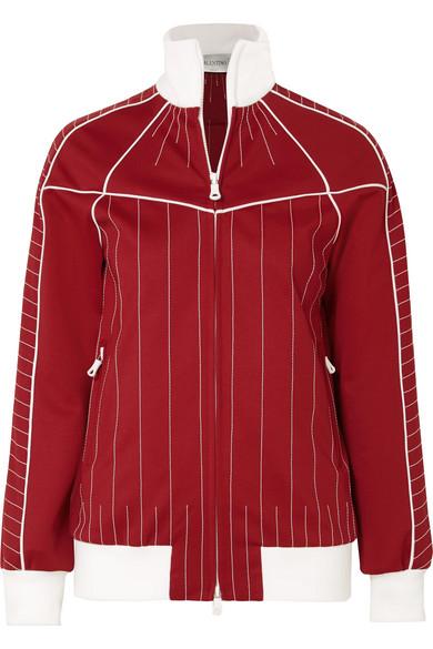 Valentino Bestickte Jacke aus glänzendem Jersey