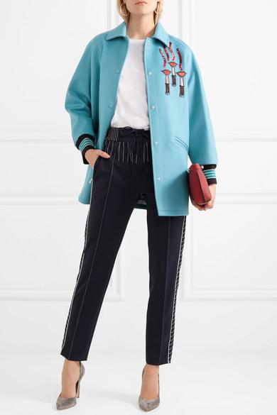 Valentino Verzierte Jacke aus Filz mit Applikationen