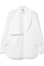 Valentino Layered cotton-poplin shirt