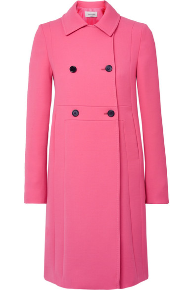 Valentino - Donna Double-breasted Wool Coat - Pink