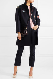 Valentino Appliquéd cotton-felt coat