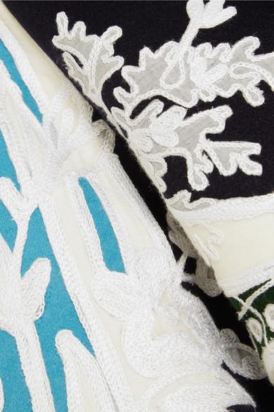 Valentino Mantel aus Filz aus einer Woll-Kaschmirmischung mit Applikationen