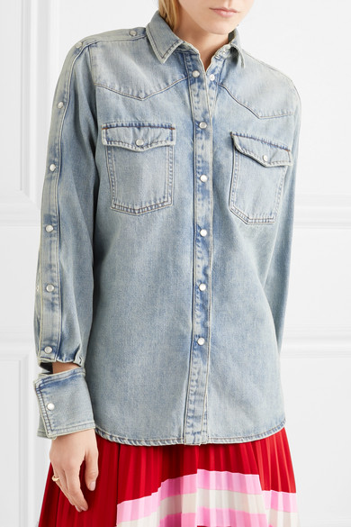 Valentino Shirt From Denim With Cut-outs
