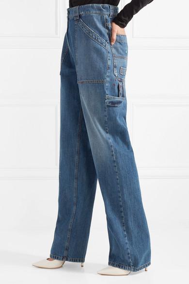 Valentino Hoch sitzende Jeans mit weitem Bein in Distressed-Optik Günstig Kaufen Empfehlen Verkauf Der Billigsten Billig Kaufen Shop Bester Ort Zum Verkauf 100% Original Online wHdpN94L